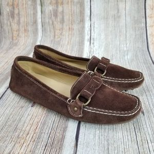 J Crew Italy Suede Driving Loafers Size 8